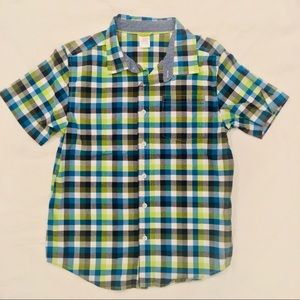 GYMBOREE new neon plain button down shirt